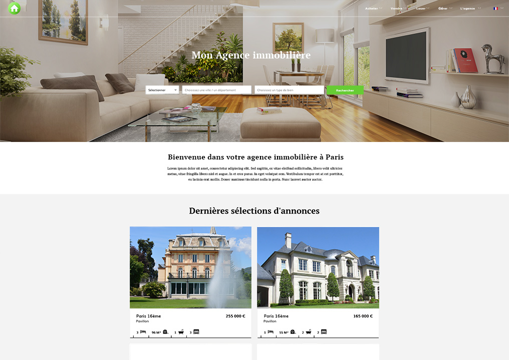 Site internet pour agence immobili re facilogi agence for Agence immobiliere site